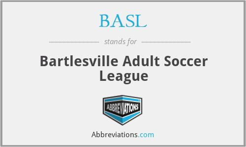 BASL - Bartlesville Adult Soccer League