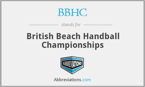 BBHC - British Beach Handball Championships