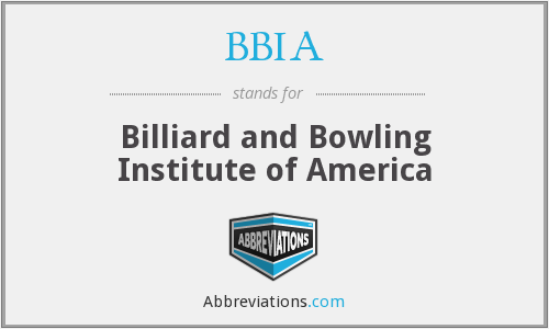 BBIA - Billiard and Bowling Institute of America