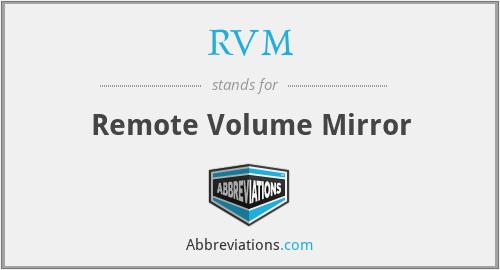 RVM - Remote Volume Mirror