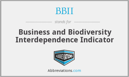 BBII - Business and Biodiversity Interdependence Indicator