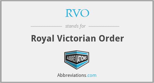 RVO - Royal Victorian Order