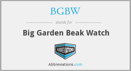 What does BGBW stand for?