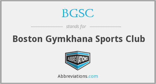 BGSC - Boston Gymkhana Sports Club