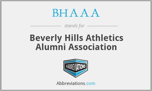 BHAAA - Beverly Hills Athletics Alumni Association