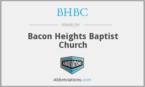 BHBC - Bacon Heights Baptist Church
