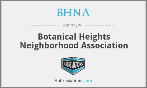 BHNA - Botanical Heights Neighborhood Association
