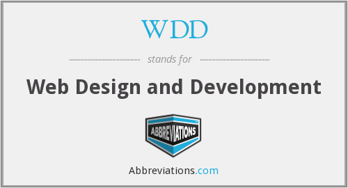 WDD - Web Design and Development