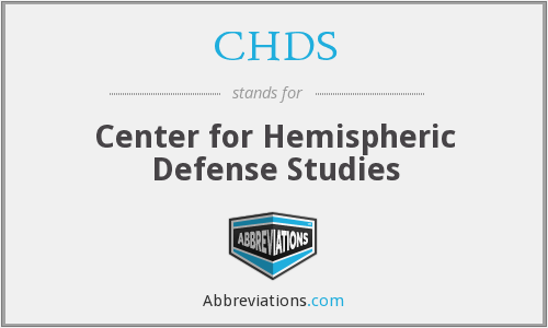 What does CHDS stand for?