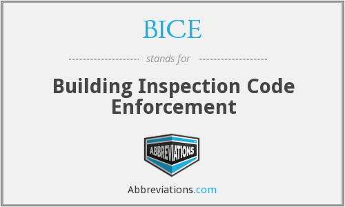What does BICE stand for?
