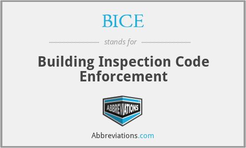 BICE - Building Inspection Code Enforcement