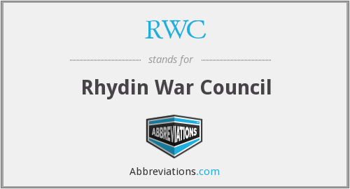 RWC - Rhydin War Council