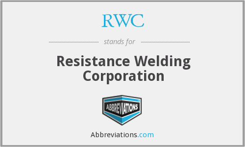RWC - Resistance Welding Corporation