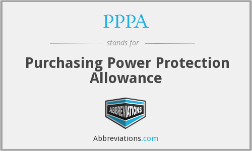 What does PPPA stand for?