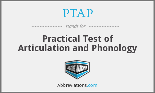 PTAP - Practical Test of Articulation and Phonology