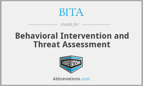 BITA - Behavioral Intervention and Threat Assessment