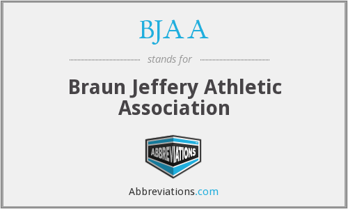 BJAA - Braun Jeffery Athletic Association
