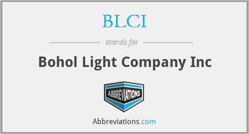 BLCI - Bohol Light Company Inc