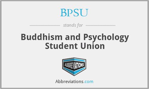 BPSU - Buddhism and Psychology Student Union