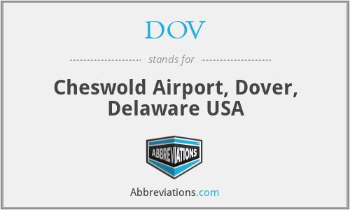 DOV - Cheswold Airport, Dover, Delaware USA