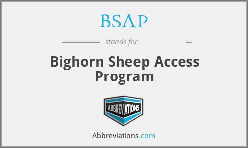 BSAP - Bighorn Sheep Access Program