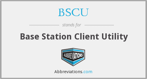 BSCU - Base Station Client Utility