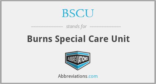 BSCU - Burns Special Care Unit
