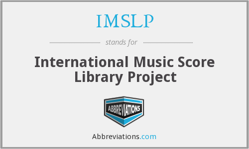 What does IMSLP stand for?