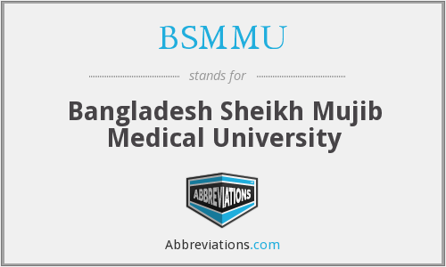 What does BSMMU stand for?