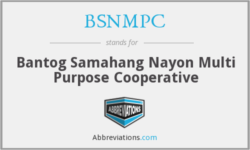 What does BSNMPC stand for?