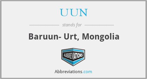 UUN - Baruun- Urt, Mongolia