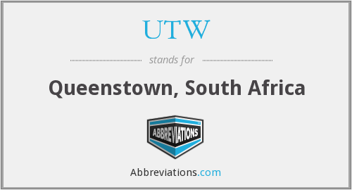 UTW - Queenstown, South Africa