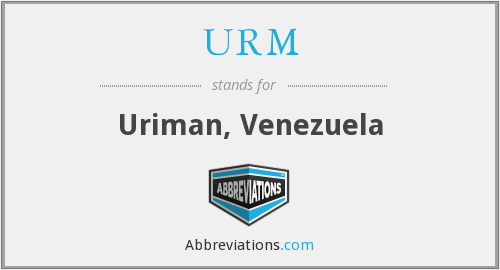 What does URM stand for?