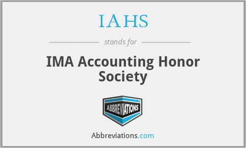 IAHS - IMA Accounting Honor Society
