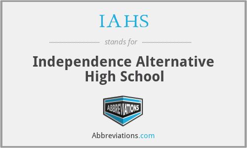 IAHS - Independence Alternative High School