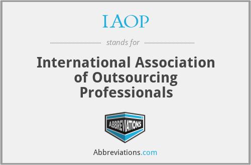 IAOP - International Association of Outsourcing Professionals