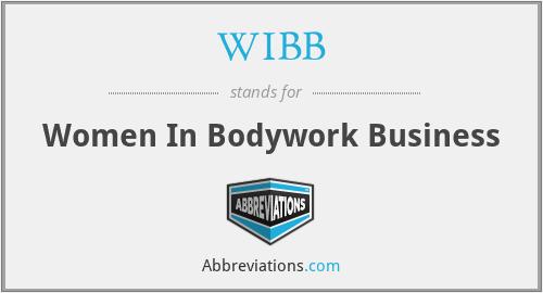 WIBB - Women In Bodywork Business