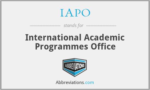 IAPO - International Academic Programmes Office