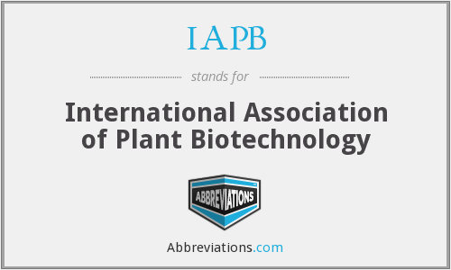 IAPB - International Association of Plant Biotechnology