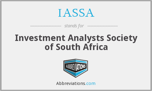 What does IASSA stand for?