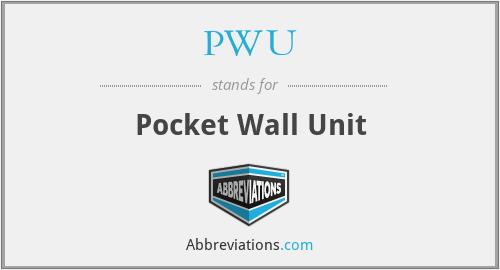 PWU - Pocket Wall Unit
