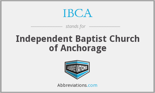 IBCA - Independent Baptist Church of Anchorage