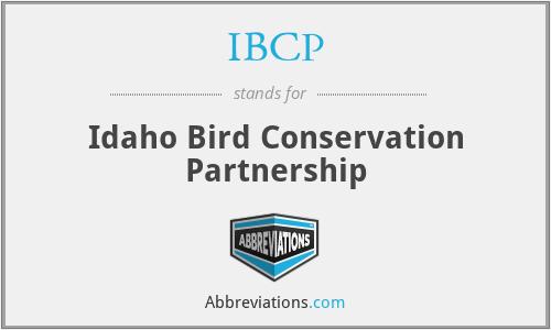 IBCP - Idaho Bird Conservation Partnership