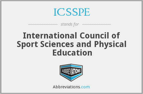 What does ICSSPE stand for?