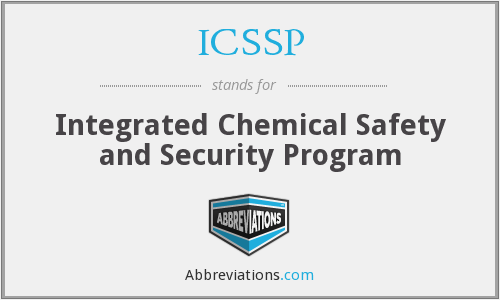 ICSSP - Integrated Chemical Safety and Security Program