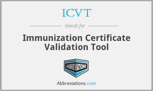 ICVT - Immunization Certificate Validation Tool