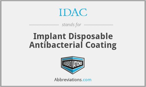 IDAC - Implant Disposable Antibacterial Coating