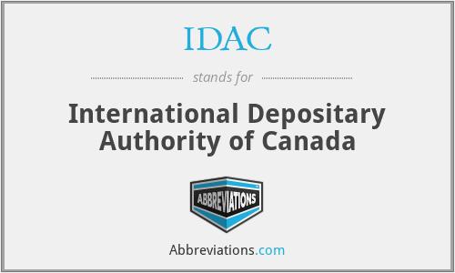IDAC - International Depositary Authority of Canada