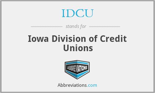 IDCU - Iowa Division of Credit Unions