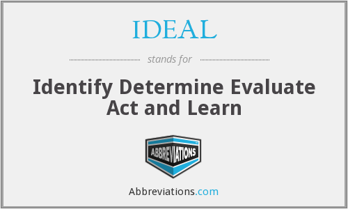 IDEAL - Identify Determine Evaluate Act and Learn